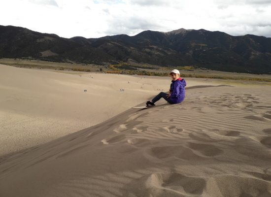 du snow sur du sable